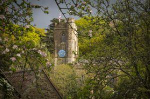 Views to Netherbury Church