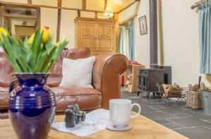 Sit and relax by the fire whilst planning your country walks