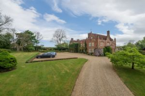 Plenty of parking at Witnesham Hall. A self contained wing of a Tudor Hall.
