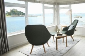 Enjoy probably the best view of St Michael's Mount from the comfort of the master bedroom