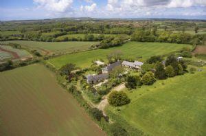 Aerial view: Tregadjack Farm