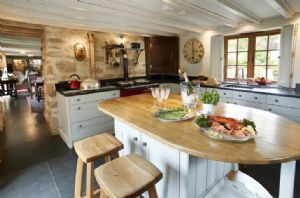 Ground floor: Open plan kitchen with Aga for cooking delicious suppers