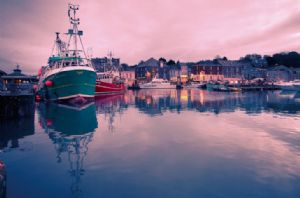 The picturesque harbour at Padstow