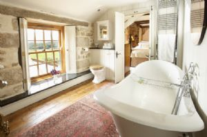 First floor: Family Jack and Jill bathroom with double ended slipper bath and wc