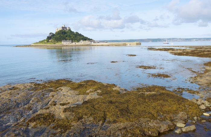 Crystal clear water looking out over St Michael's Mount