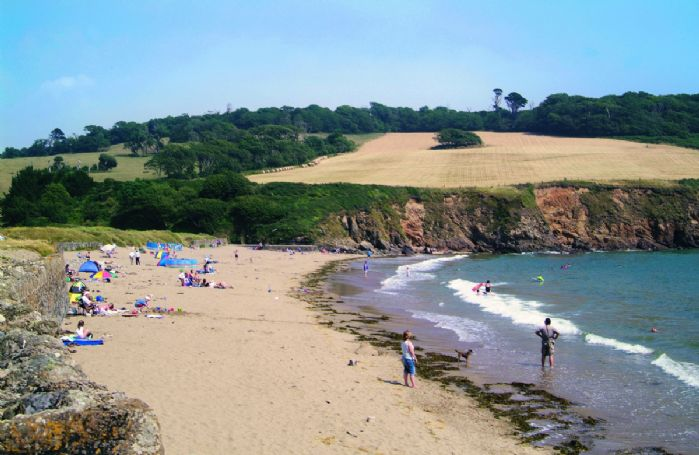 Caerhays Beach in Cornwall