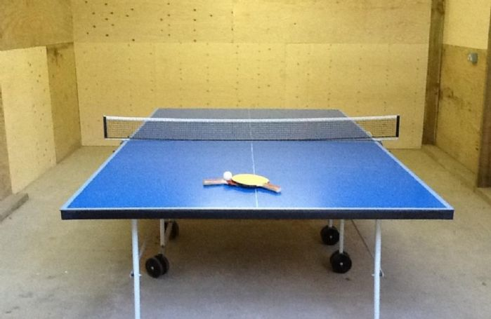 Full size size table tennis in barn for guests' use