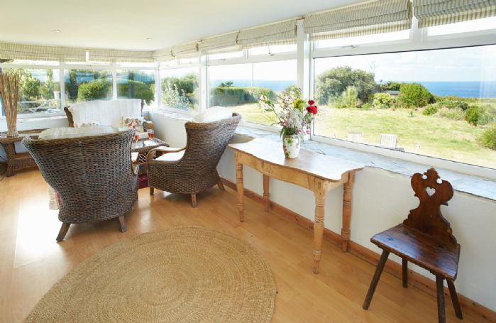 Ground floor: Conservatory with sea views