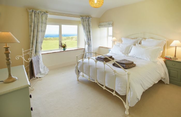 First floor: Double bedroom with sea views