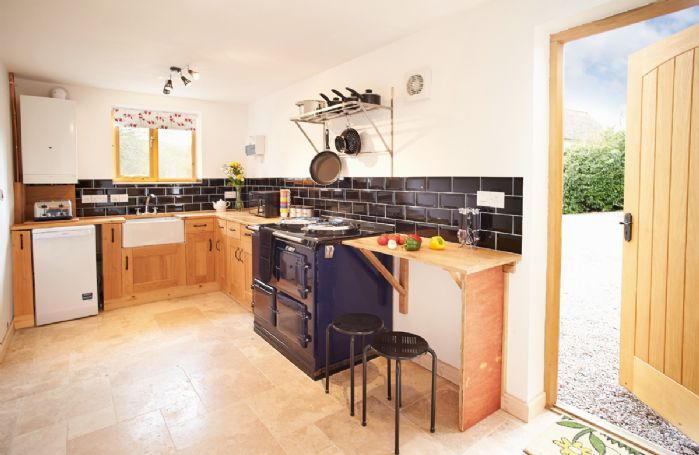 Ground floor:  Spacious kitchen with Aga