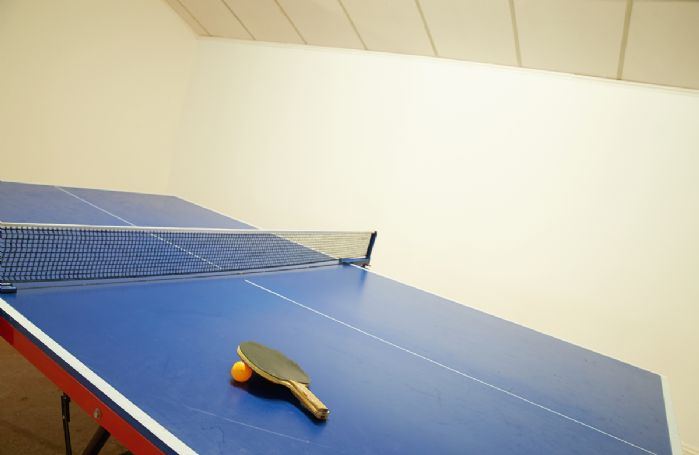 Facilities include shared table tennis