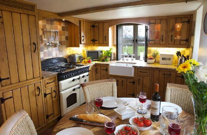 Ground floor: Kitchen with dining for four guests