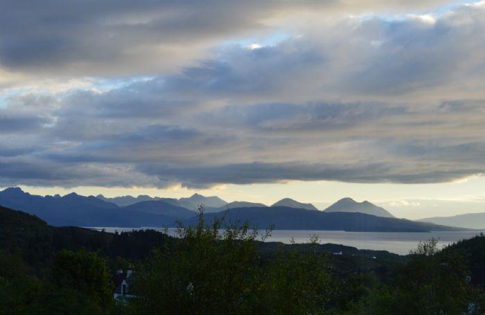 Superb sunset views at Achnandarach Lodge