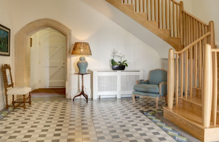 Ground floor: Bright and spacious hallway with tiled floor