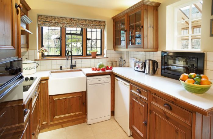 Ground floor:  The quaint and fully equipped kitchen