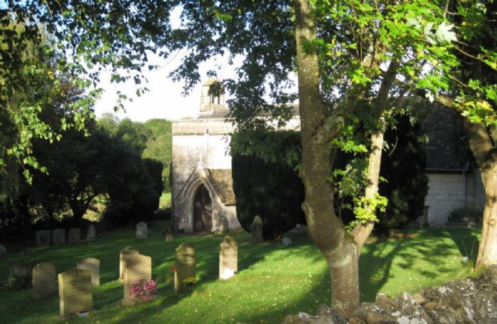 Overlooking the picturesque church of St Mary Magdalene