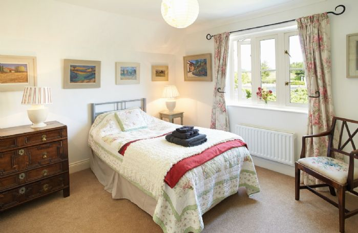 First floor: Single bedroom with 3' bed with adjoining bathroom