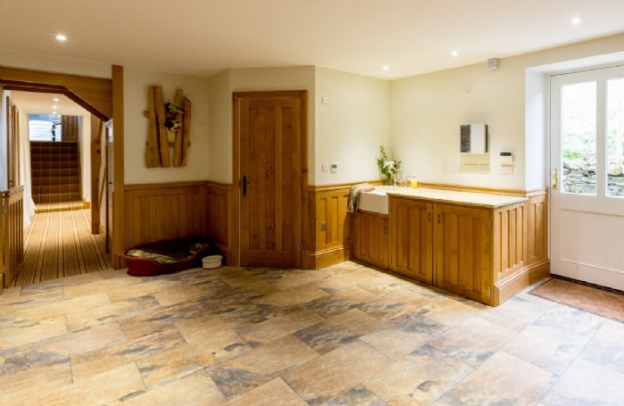 Ground floor: Pet-friendly boot room with underfloor heating