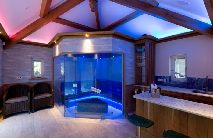 Ground floor: Next to the laconium spa is a well equipped bar perfect for making cocktails after a day out walking the fells
