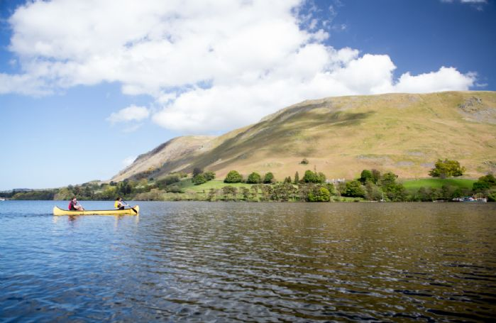 Guests can canoe on the lake and take in the views from a new perspective