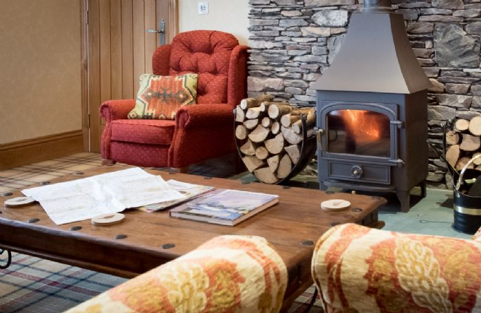 Ground floor: Drawing room with wood burning stove