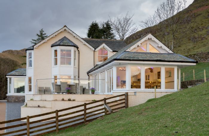 Waternook sits on the edge of Ullswater Lake and is surrounded by stunning Lakeland fells