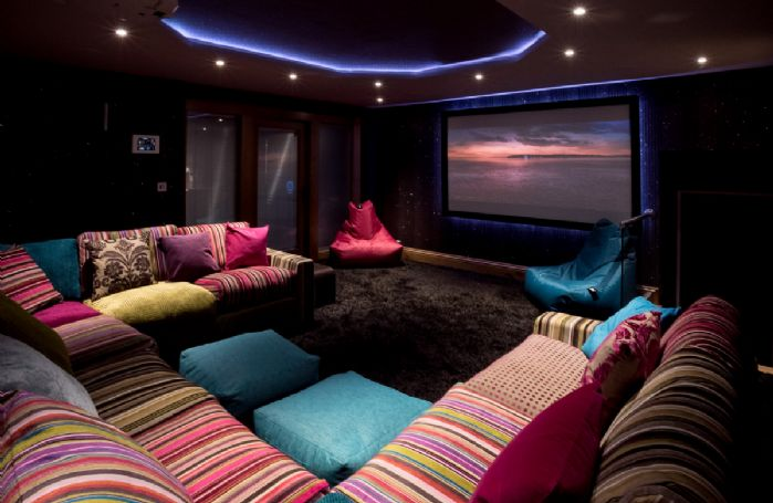 Waternook: Private cinema with a choice of seating and incorporating state of the art technology, mood lighting and Sky Movies & Sports