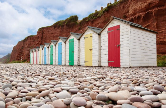 The beach huts at Budleigh Salterton