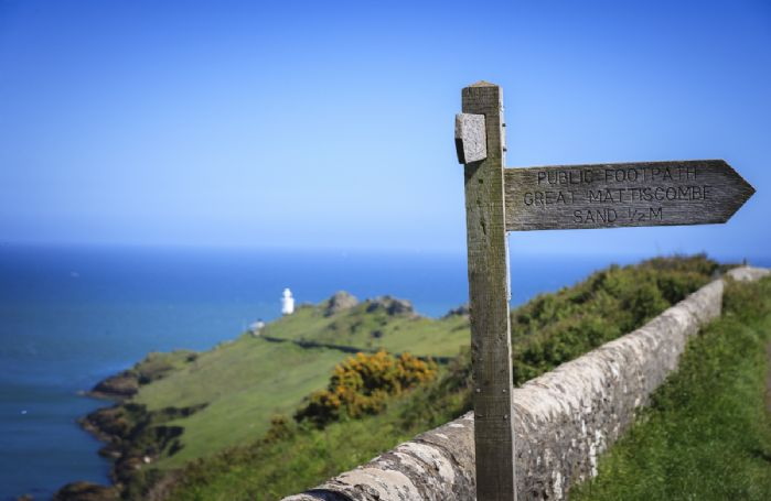 Guests can use the path to enjoy breathtaking clifftop walks in both directions