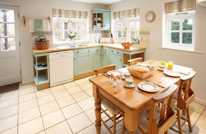 Ground floor:  Kitchen with breakfast area