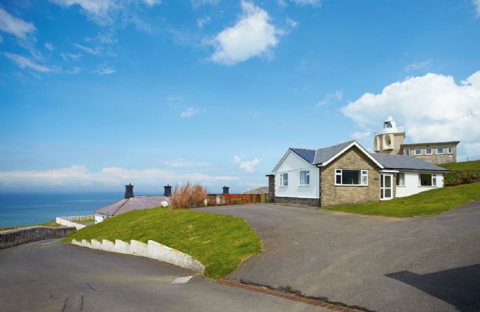 Bull Point Lighthouse is just outside of Mortehoe in North Devon and the site comprises of four self catering cottages - Warden, Siren, Triton, and Sherrin Cottage with accommodation for 5 Guests at Bull Point in Devon