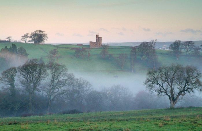 Tawstock Castle stands proudly on a rounded hill top with wonderful 360 degree views of Devon