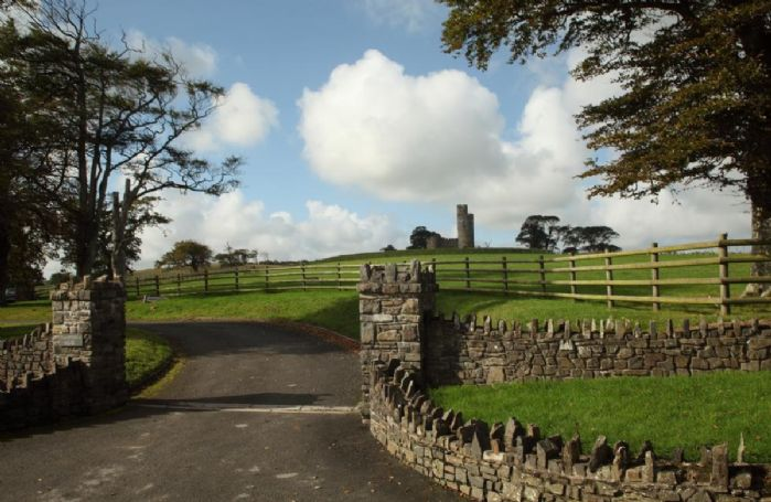 The approach to Tawstock Castle