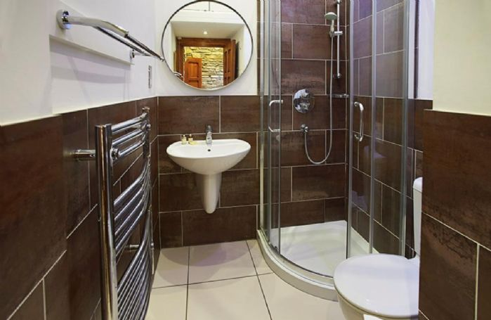 Ground floor:  Contemporary shower room with wc