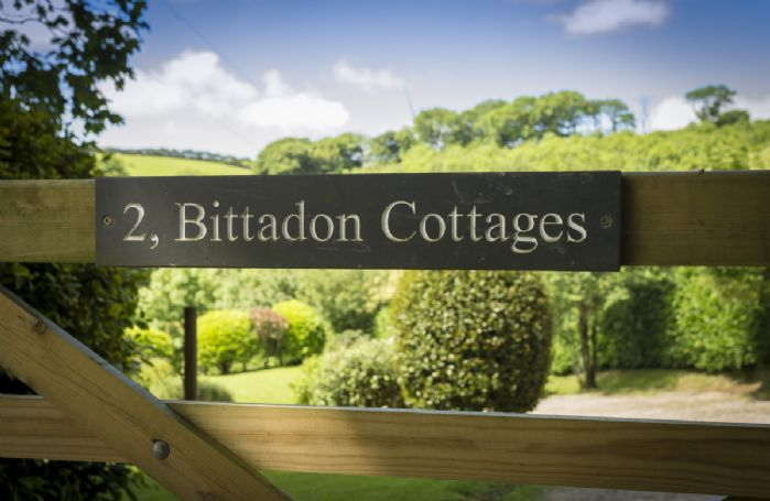 Country gates to Bittadon Cottages