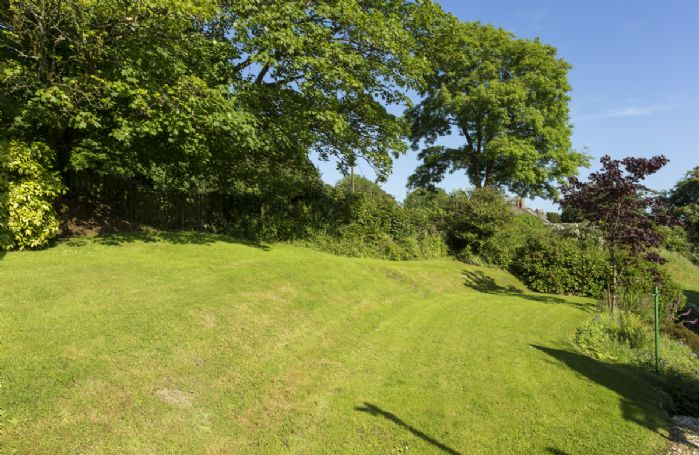 Large private lawned garden