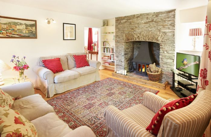 Ground floor: Sitting room with wood-burning stove