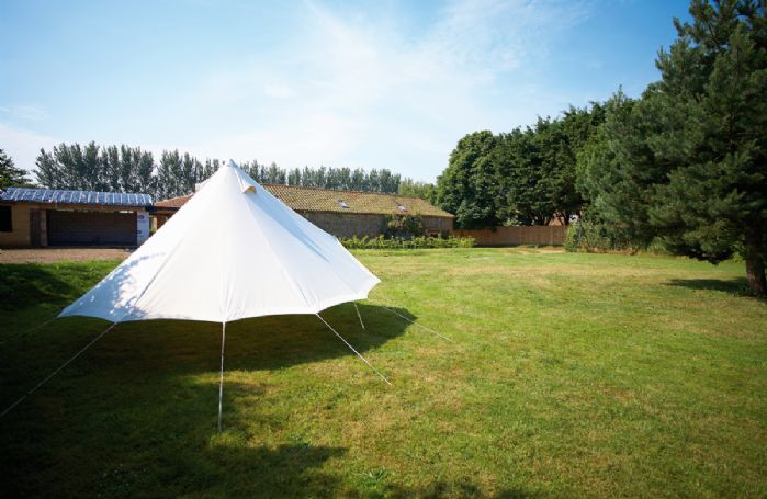 Children can play in the 'Soulpad' which is erected within the grounds during the high summer
