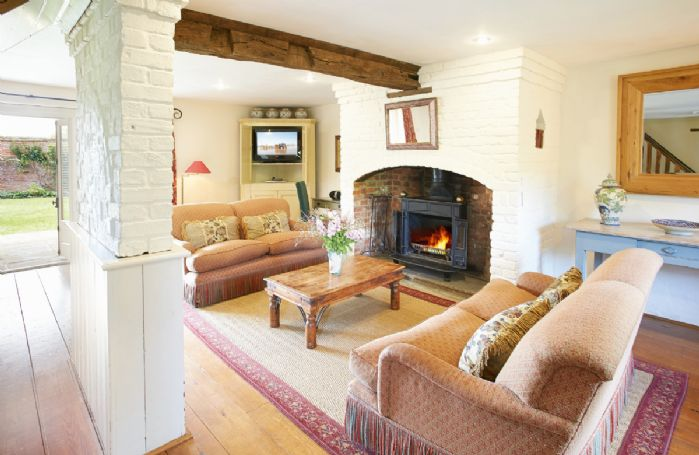 Ground floor: Large reception room with wood burning stove