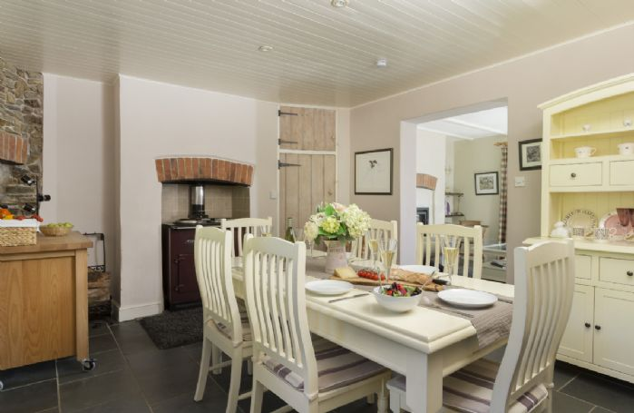 Ground Floor: Lovely spacious open plan dining room with ESSE stove