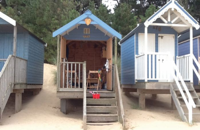 Possibility of hiring a beach hut (notice required and an extra hire charge applies)
