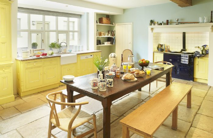 Ground floor: Large farmhouse kitchen with Aga