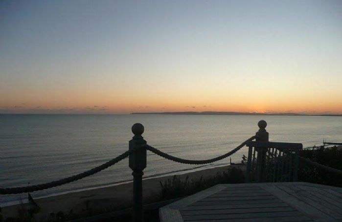 Enjoy beautiful sunsets from the balcony at Beach View
