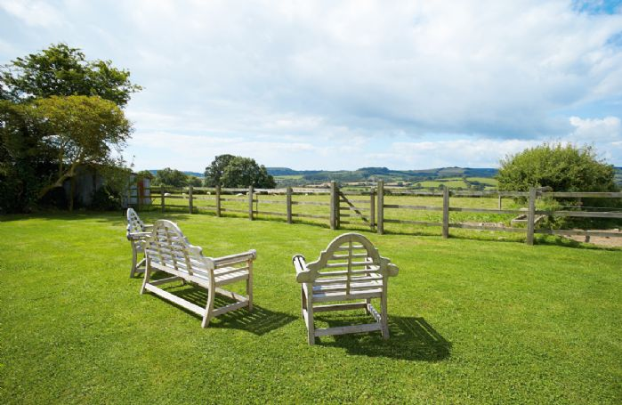 Spectacular views across the surrounding countryside and the Marshwood Vale