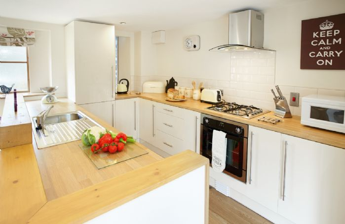 Ground floor: Open plan kitchen area