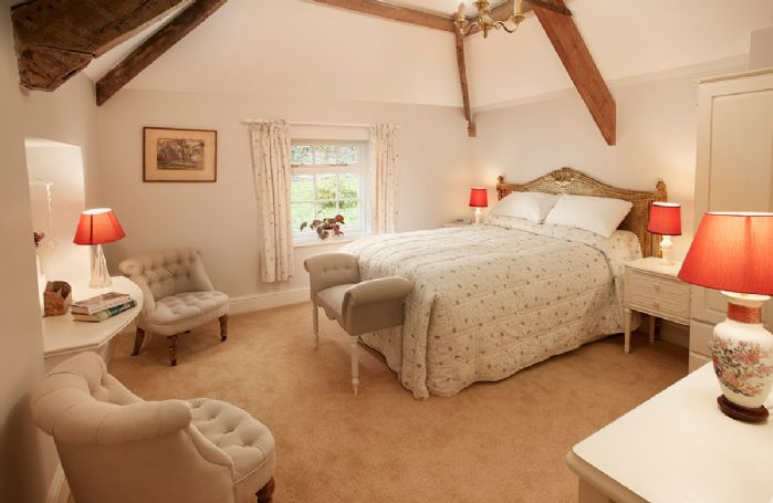 First floor: Third bedroom with 4'6 double bed and exposed beams