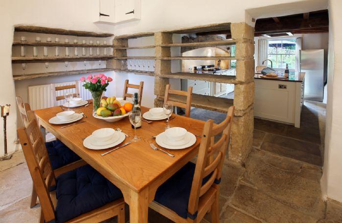 Ground floor:  Dining room adjoining kitchen