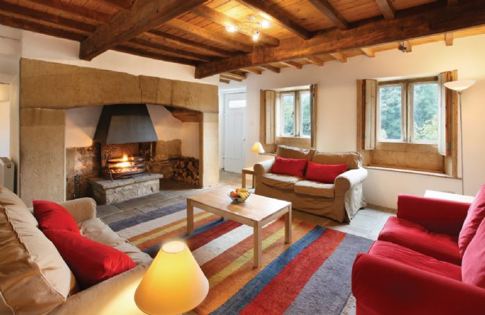 Ground floor:  Drawing room with log fireplace