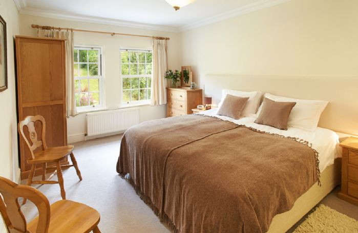 First floor:  Double bedroom with 6' zip and link bed which can convert to singles on request
