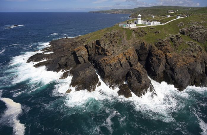 The rocks below the lighthouse headland where you may be lucky enough to spot seals